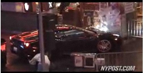 Nicolas Cage Stunt Driver Wrecks Ferrari In Times Square