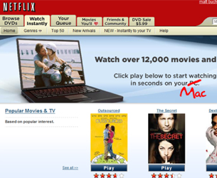 Netflix Watch Instantly Adds Support for Macs
