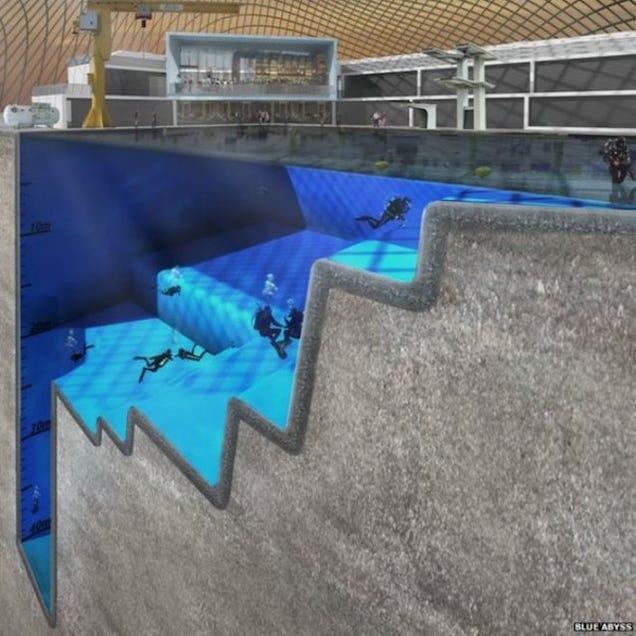 La piscina más profunda del mundo: 50 metros al servicio de la ciencia