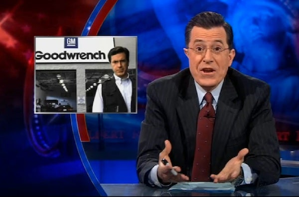 Stephen Colbert Cops To Killing Mr. Goodwrench