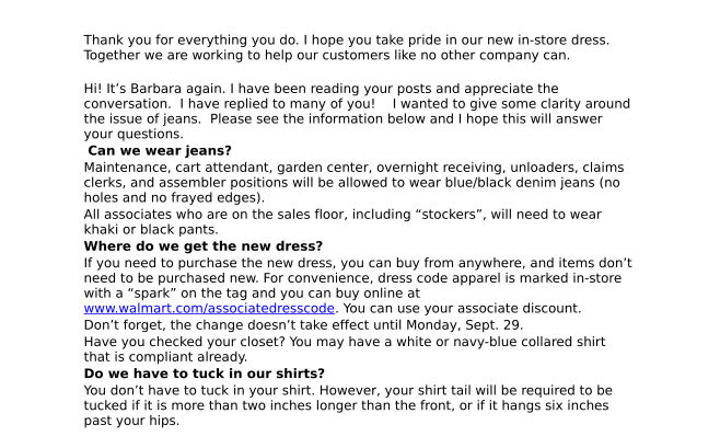 """Walmart Workers Rant About the """"Nonsense"""" New Dress Code"""