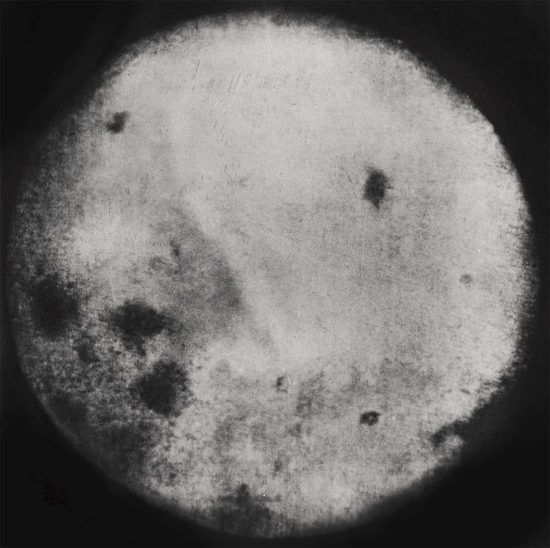 The First Photo Of The Far Side Of The Moon