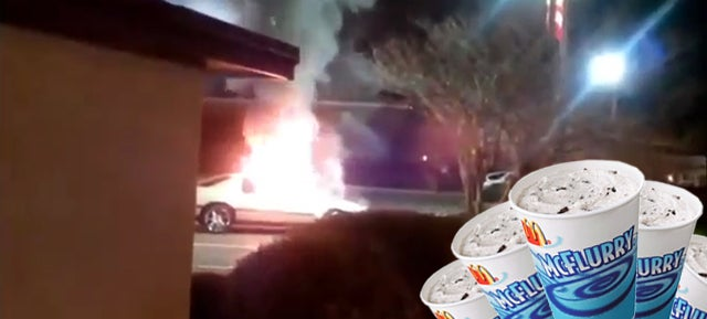 Florida Woman Sets Car On Fire Over McFlurry, Onlookers Claim