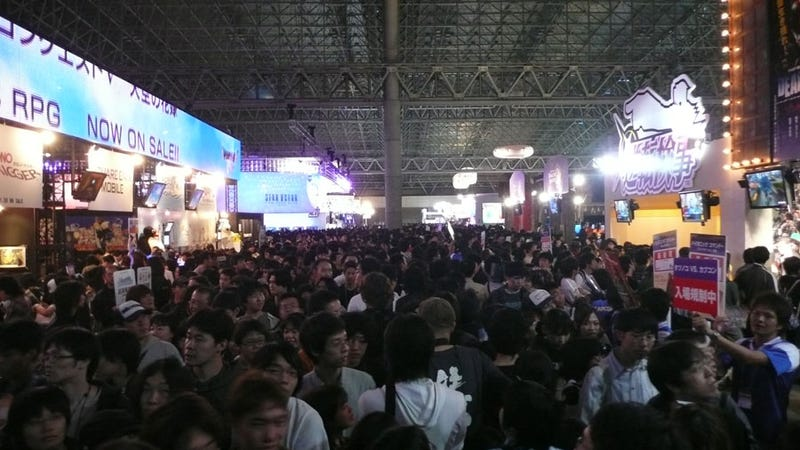 Square Enix, Capcom Booths Are A Teeming Mass Of Humanity