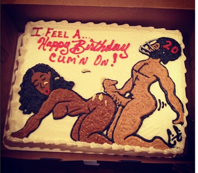 Here's Another NSFW Cake That Brent Grimes Got For His Birthday