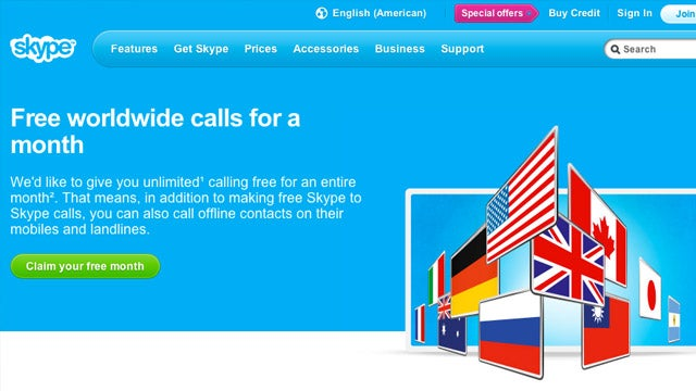 Grab a Free Month of Skype's Unlimited Worldwide Calling