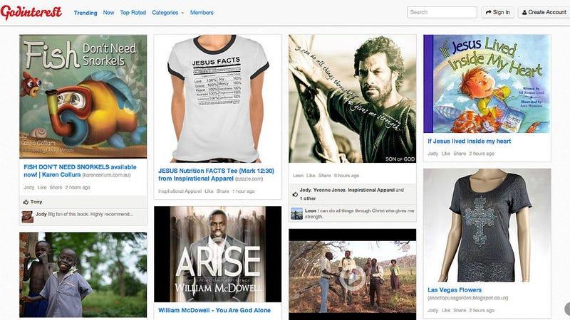 Not Enough Jesus on Pinterest? Try Godinterest.