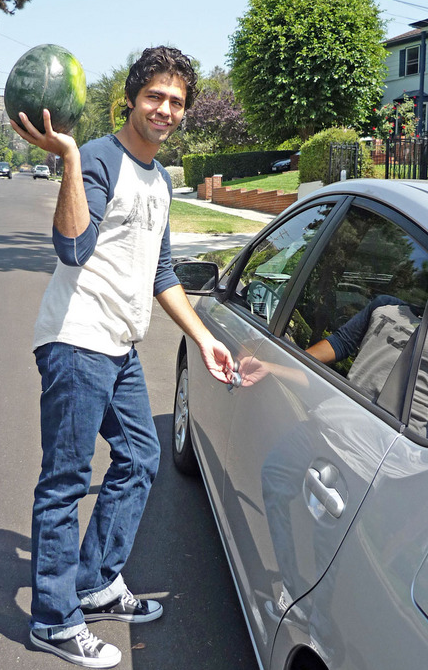 Adrian Grenier Drives A Toyota Prius