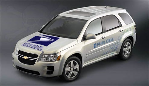 GM Using US Postal Fleet As Fuel Cell Equinox Test Bed