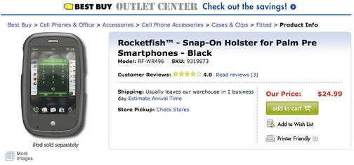 Oops! Best Buy Selling a Palm Pre Case with 'iPod Sold Separately'