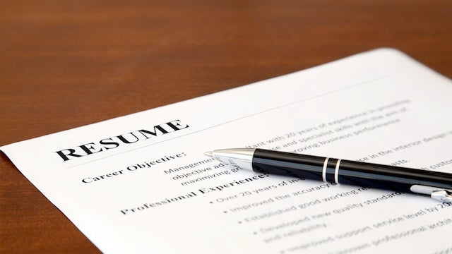 Have a Friend Read Your Resume, then Guess the Job You're Applying For