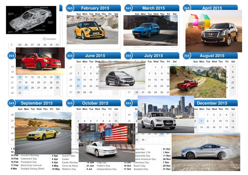 2015 Model Year Reveals To Look Forward To