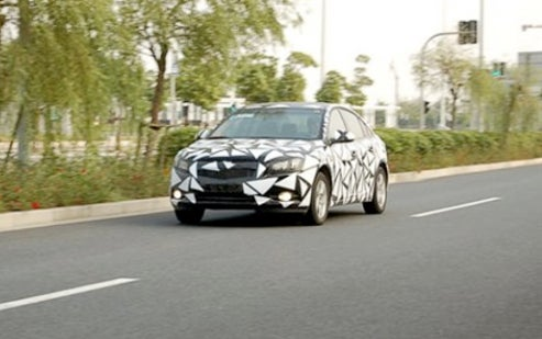 Chevy Cruze Showing Off Cookie-Cutter Camo On Chinese Streets