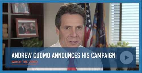 Andrew Cuomo Officially Announces Campaign for NY Governor
