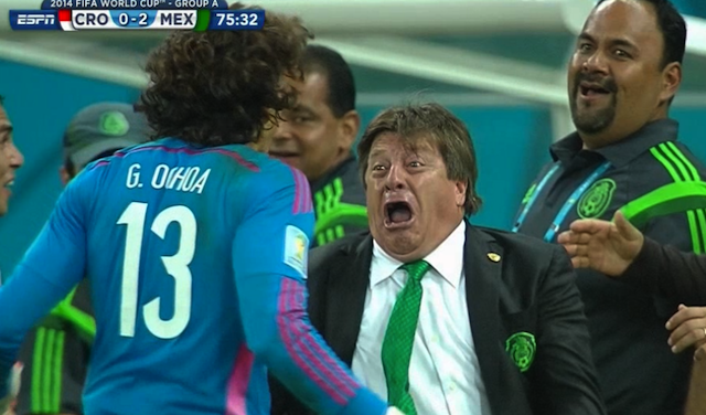 Mexico's Coach Is The MVP Of Being Emotional On The Sideline