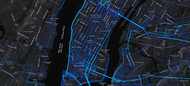 An Insanely Detailed Map of Where People Bike and Run Around the World