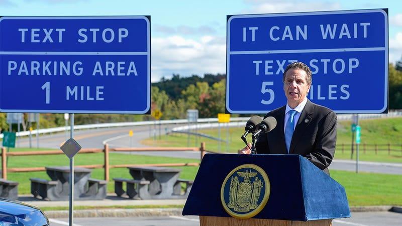 """Will New York's New Highway """"Texting Stops"""" Curb Distracted Driving?"""