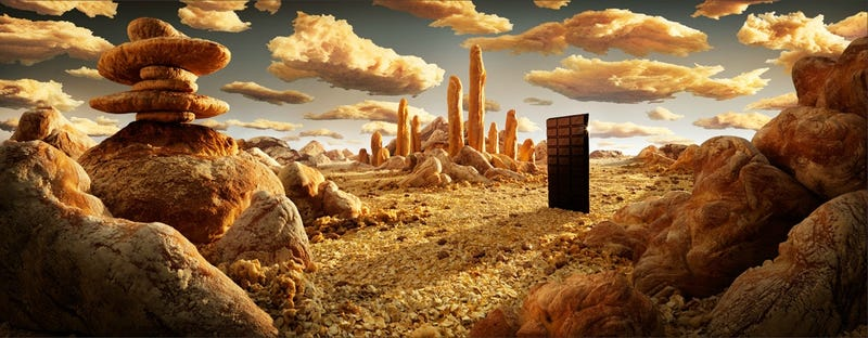 2001: A Space Odyssey recreated in bread and chocolate