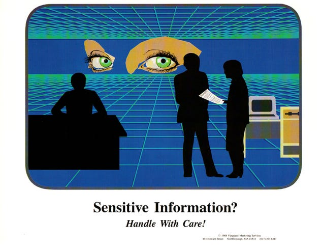 80's Sysadmin Warning Posters Look Like Dystopian Parodies