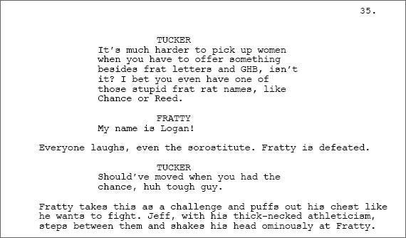 Tucker Max's Movie Script