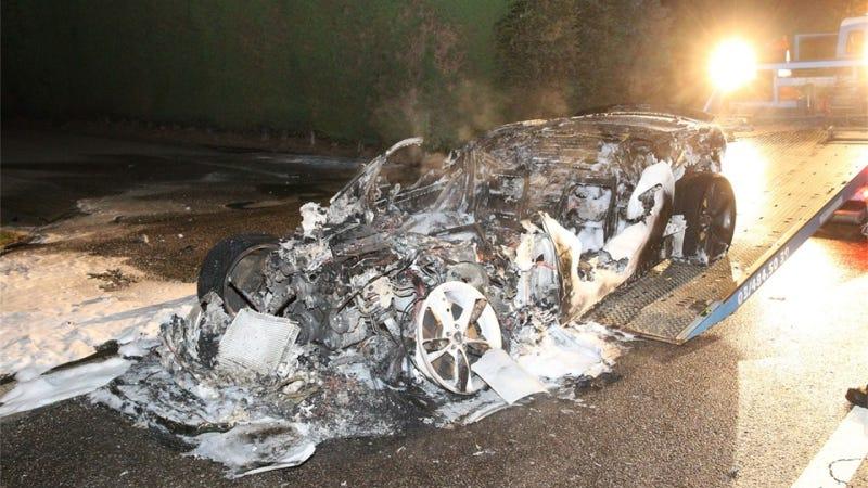 Jaguar F-Type Just Completely Melts in Belgian Fire