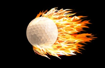 Golfer's Swinging Club Strikes Rock, Starts Fire