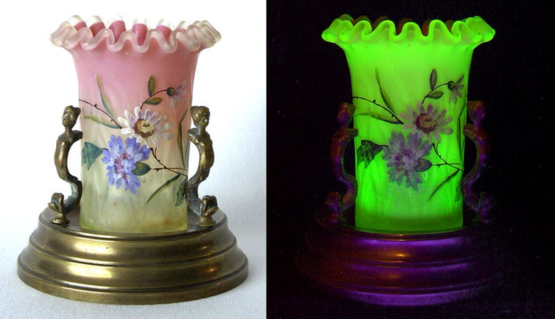 The Victorians Used To Use Uranium To Make Glowing Glassware