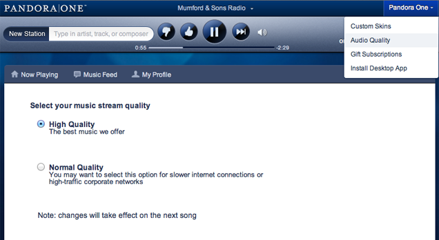 Stream Pandora One from Your PC Instead of Your Phone for Quality