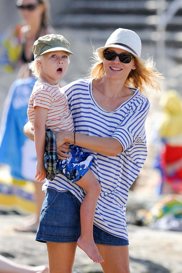 Naomi Watts Stripes It Rich While On Vacation