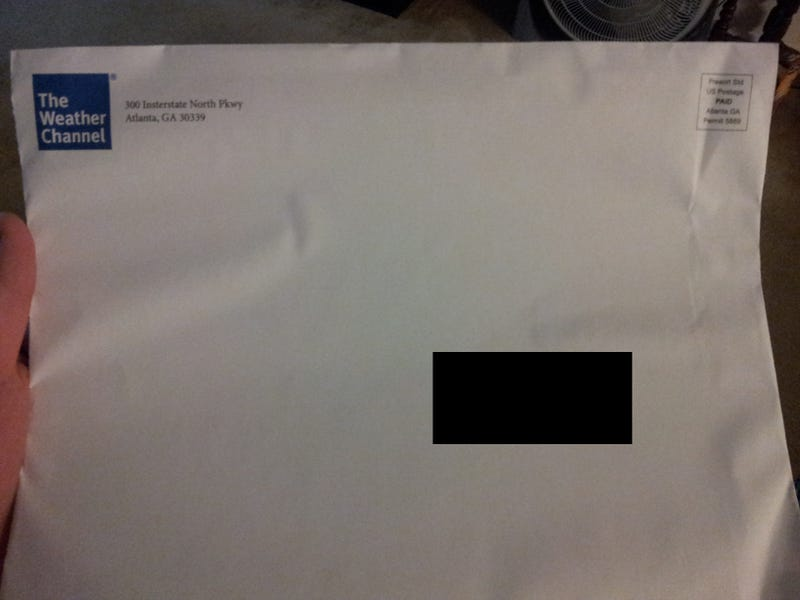 Getting a White Envelope from The Weather Channel Is Terrifying...