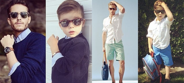 A 4-year-old boy recreating fashion poses is just adorable