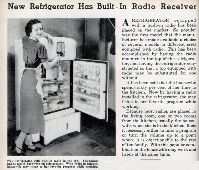 The 1930s Refrigerator-Radio