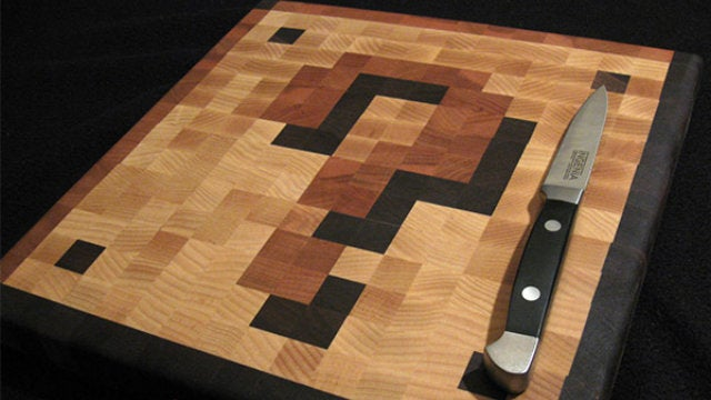 Slice and Dice Fire Flowers on This Coin Block Cutting Board