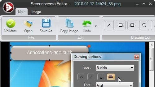 Screenpresso Takes Screen Captures, Adds Annotations, and Shares Them
