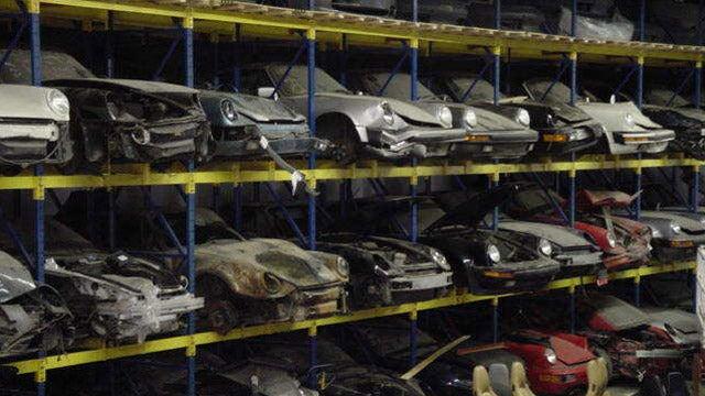 Inside L.A.'s largest Porsche recycling shop