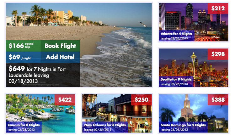 Nowcation Shows You Cheap Flights Leaving in the Next Month