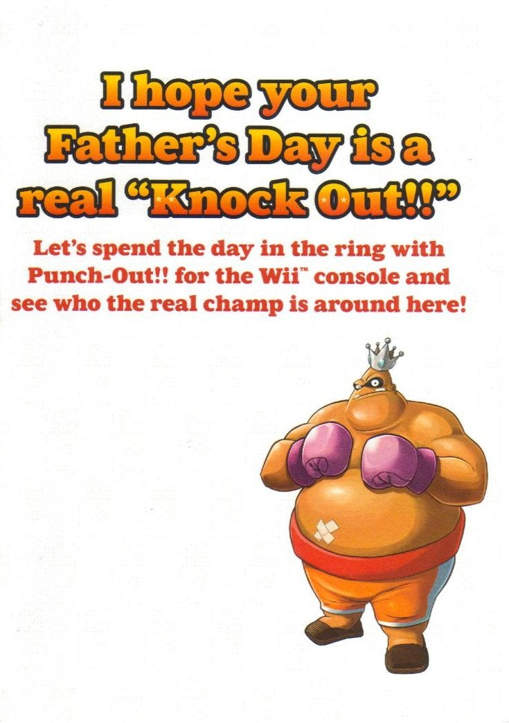 Say Happy Father's Day With This Punch-Out!! Card