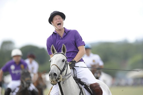 Prince Harry Cannot Contain His Horsey Joy