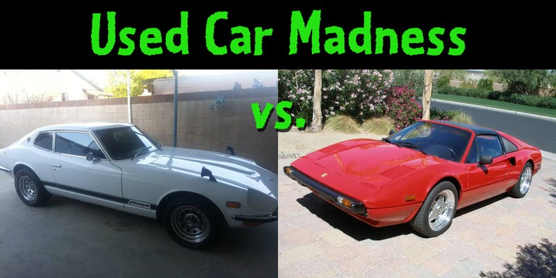 Used Car Madness: $35k Datsun vs. Ferrari edition