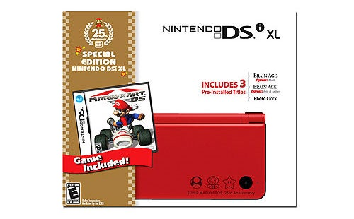 Mario's New Red DSi XL Coming To America