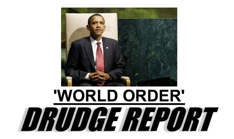 OMG Obama Said 'World' and then 'Order'