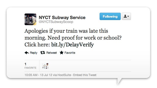 NYC Subway Gives Commuters Proof the Train Made Them Late for Work—A Month Later