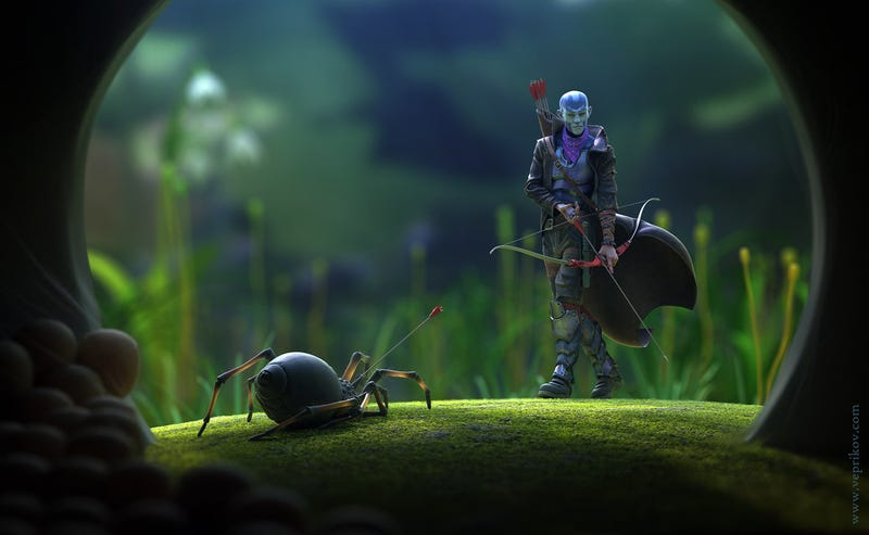 Concept Art Writing Prompt: The Spider Hunter
