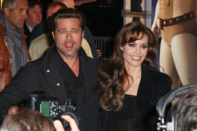 Brad & Angelina Can't Stop Touching Each Other