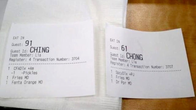 Hey 'Ching' and 'Chong,' Your Chick-fil-A Is Ready