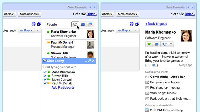 Gmail People Widget Provides Added Context to Your Messages