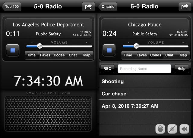 5-0 App Turns Your iPhone into a Police Radio Scanner