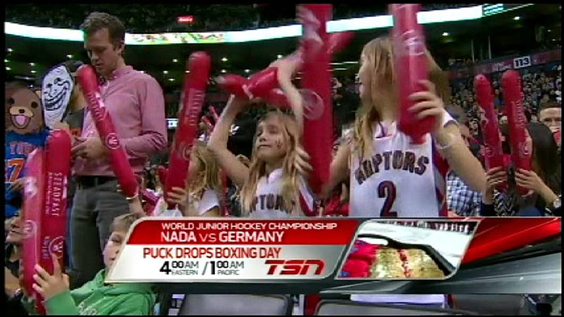 Trollface And Pedobear Decided To Take In Yesterday's Rockets-Raptors Game