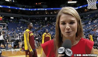 Cavs Sideline Reporter Hit In Head With Ball, Is A Pro