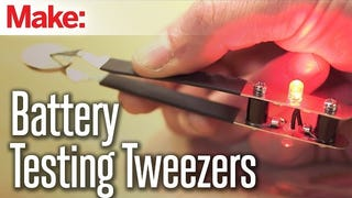Quickly Test Coin Cell Batteries with DIY Battery-Testing Tweezers